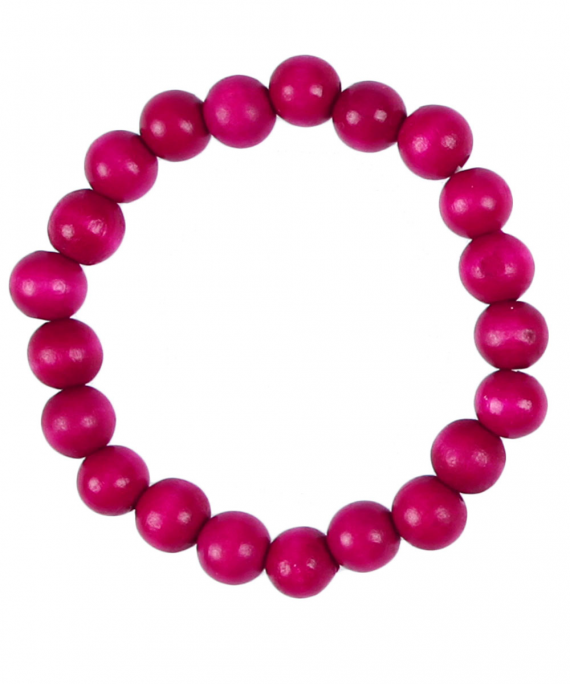 Single Bead Bracelet Fuxia