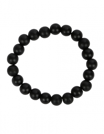 Single Bead Bracelet Black